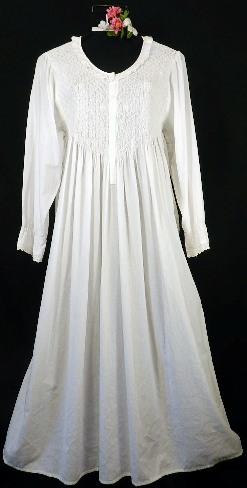 107 Longsleeve Smocked Gown