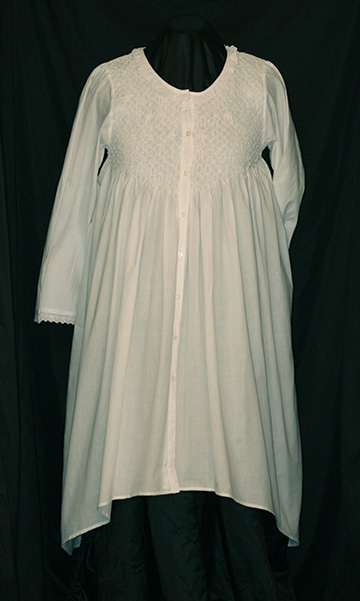 107.6 Smocked Robe with Pockets