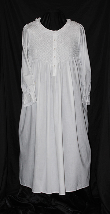 #15 107 Longsleeve Smocked Gown
