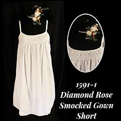 1591-1 Diamond Rose Smocked Short
